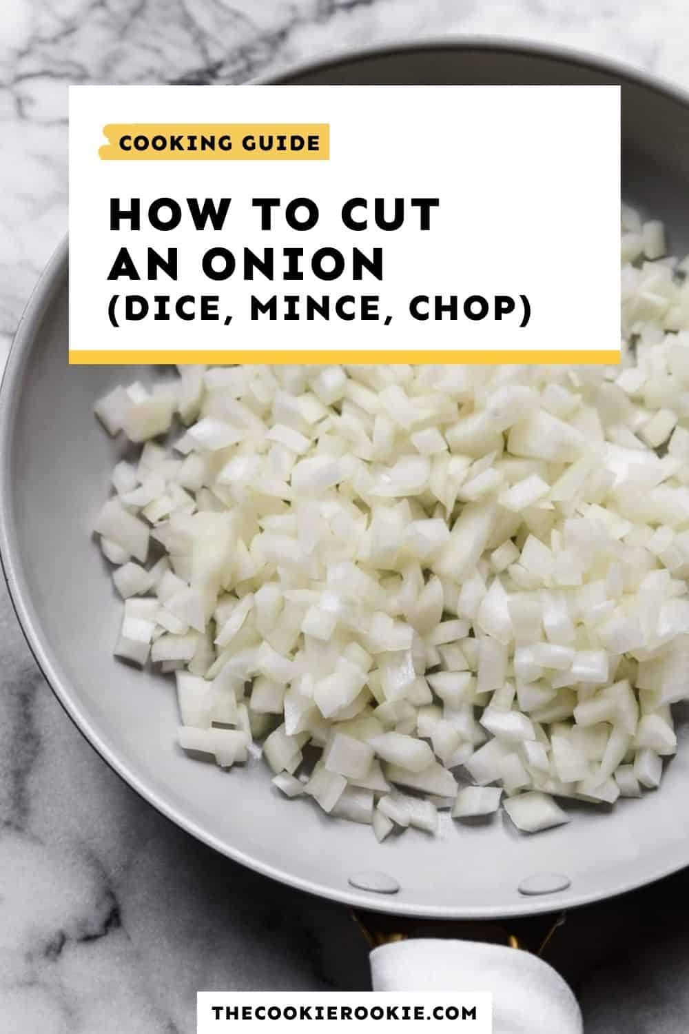 How To Cut An Onion How To Dice Mince And Chop Onions Video