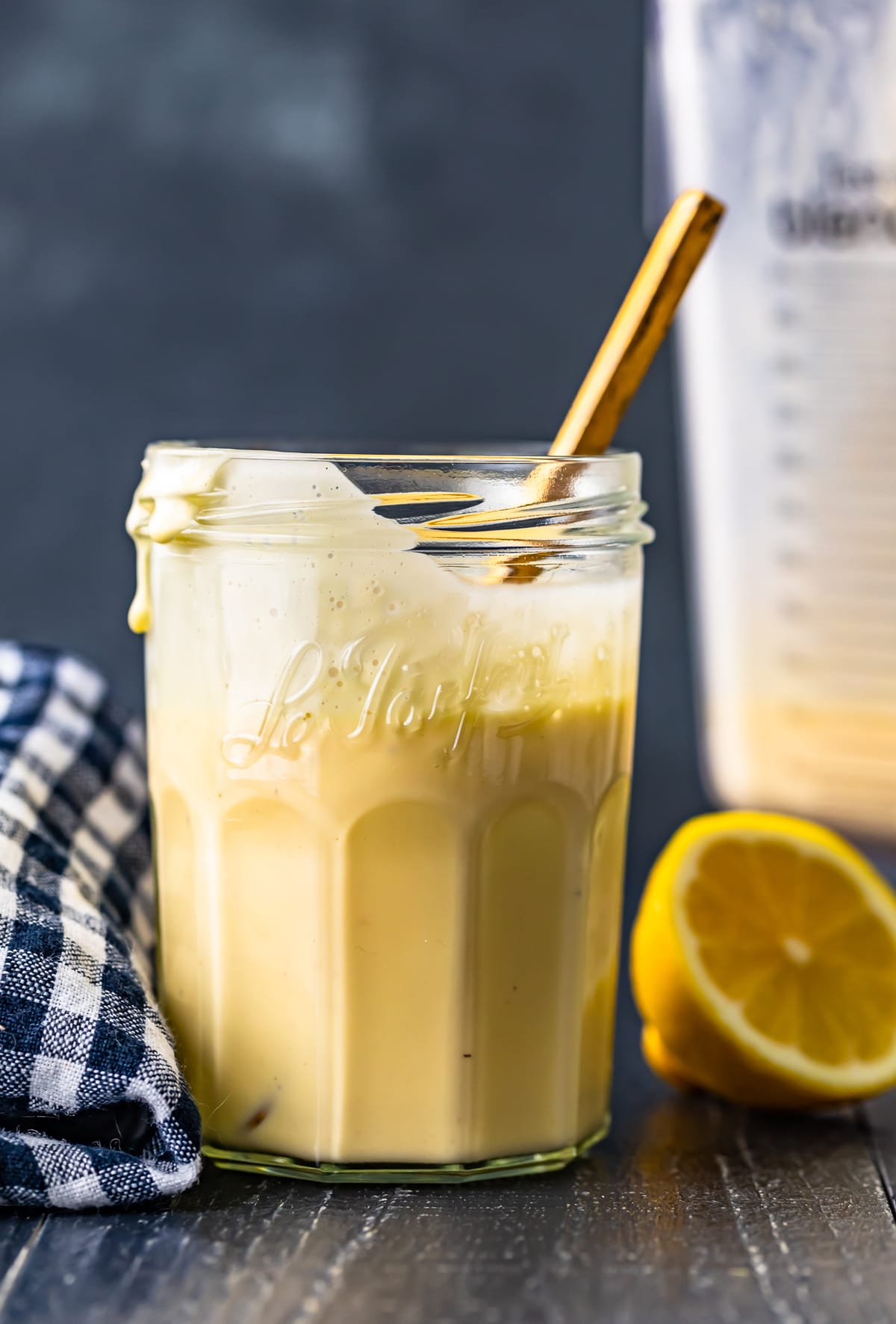 blender hollandaise sauce in a jar