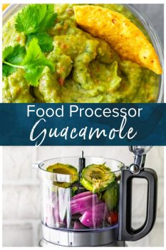 Easy Guacamole Recipe...I've never heard three words sound more beautiful! This simple and delicious Food Processor Guacamole is filled with great ingredients, and only takes a few minutes to make. No chunks here, just smoooooth guac! #thecookierookie #guacamole #cincodemayo #avocado #dip #gameday
