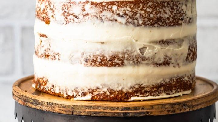 Hummingbird Cake Recipe with Dried Pineapple Flowers