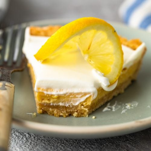 Sour Cream Lemon Pie is perfectly tart and creamy. This easy lemon pie recipe is filled with simple flavors that mix together beautifully. The lemon pie filling, saltine cracker pie crust, and sour cream topping combine to create the most delicious lemon tart for spring time!