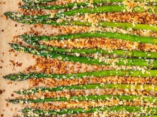 Crispy Garlic Roasted Asparagus With Garlic Aioli Video