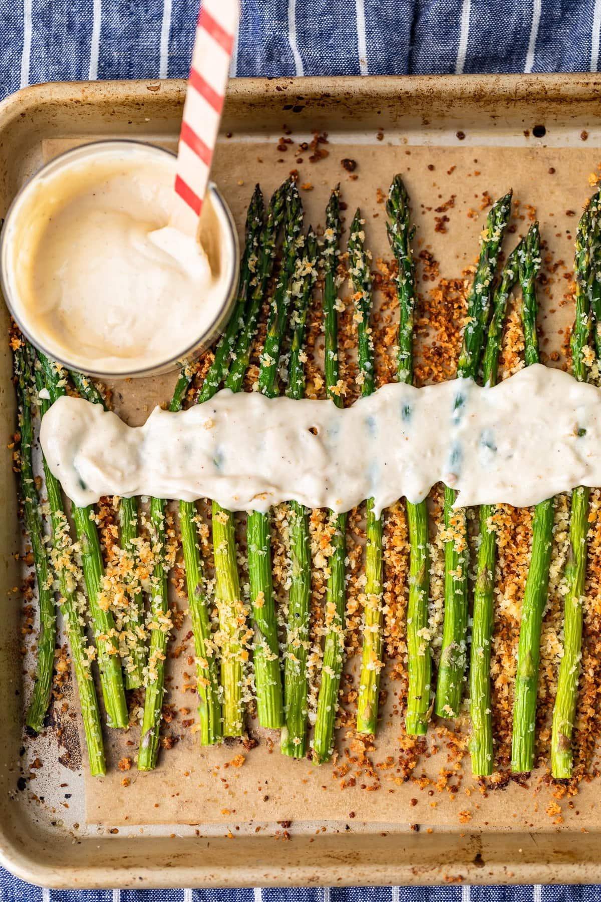 asparagus with aioli