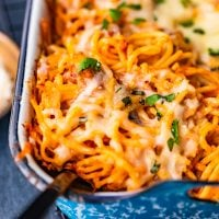baked spaghetti featured image
