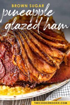 glazed ham pinterest image