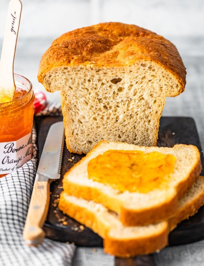 Homemade Sandwich Bread is an easy way to make your sandwiches extra fresh and extra tasty! This easy homemade bread recipe is simple enough to make every week. It's perfect for sandwiches, toast, or anything else you need bread for!