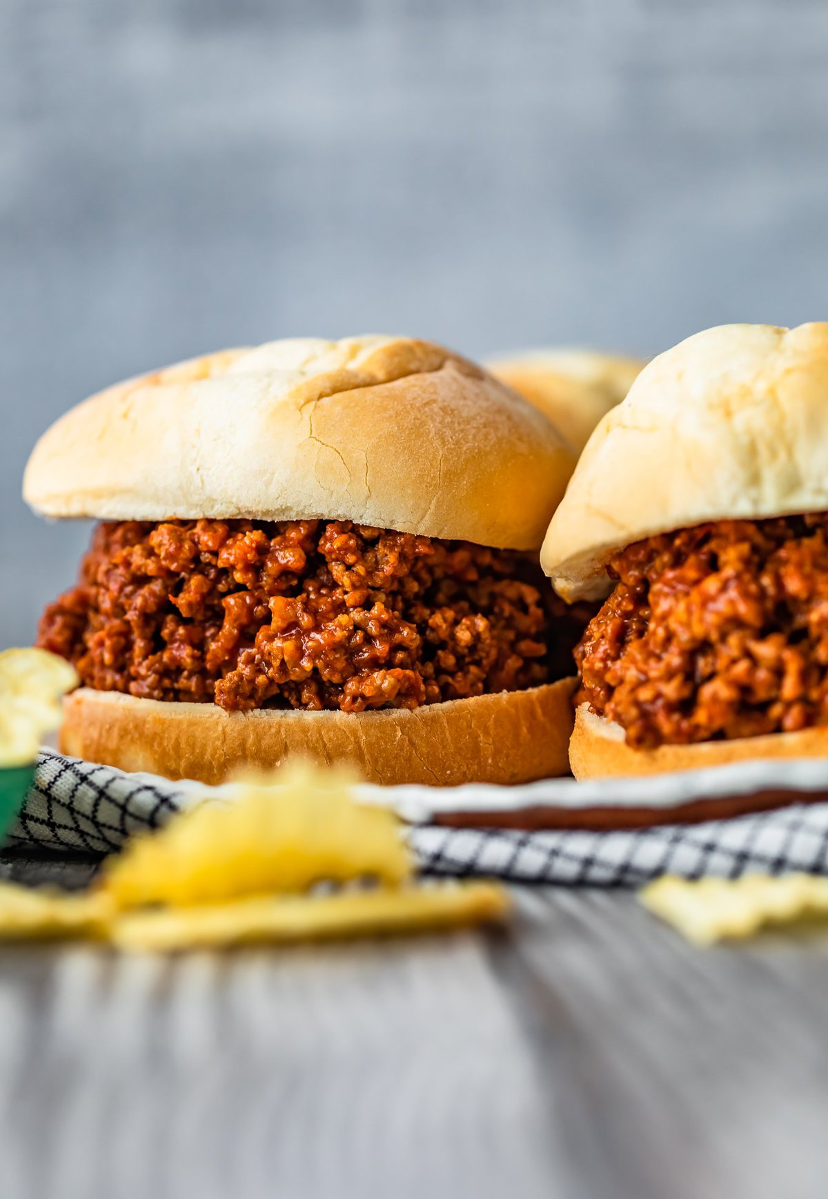 sloppy joes on a table