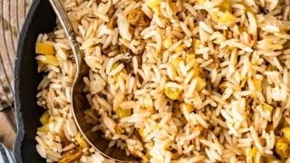 Spiced Rice Pilaf with Apples and Raisins