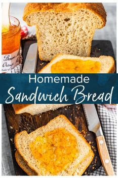 Homemade Sandwich Bread is an easy way to make your sandwiches extra fresh and extra tasty! This easy homemade bread recipe is simple enough to make every week. It's perfect for sandwiches, toast, or anything else you need bread for! #thecookierookie #bread #sandwiches #homemade #homemadebread