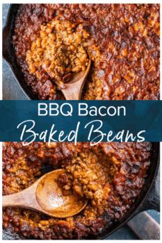 bbq baked beans pinterest collage