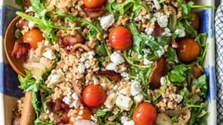 BLT Farro Salad Recipe (Farro, Bacon, Tomato, Arugula Salad)