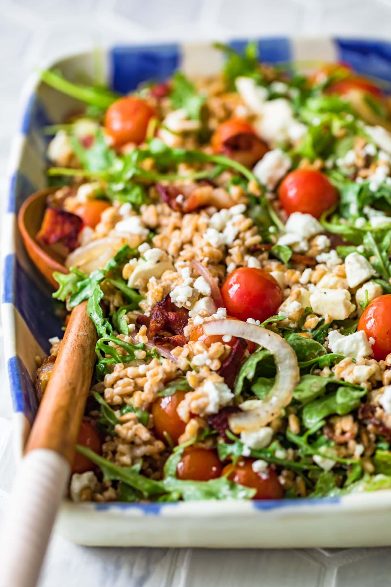 farro, BLT salad