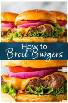 broiled burgers pinterest image