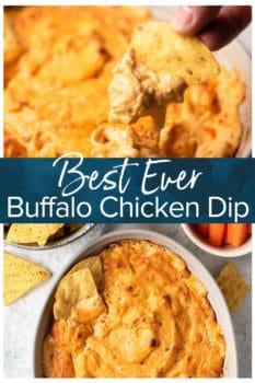 Best Ever Buffalo Chicken Dip- Pinterest collage