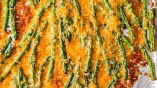 Cheesy Crispy Baked Green Beans