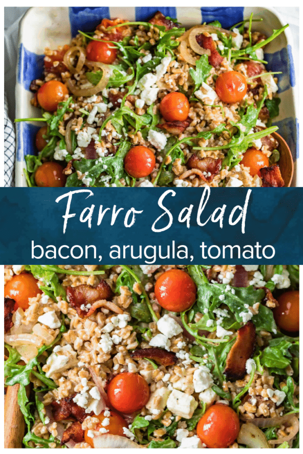 BLT Farro Salad- Pinterest collage