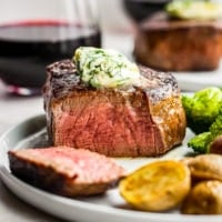 Easy Restaurant Steak Recipe with Cilantro Steak Butter