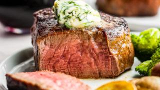 Easy Restaurant Steak Recipe with Cilantro Steak Butter