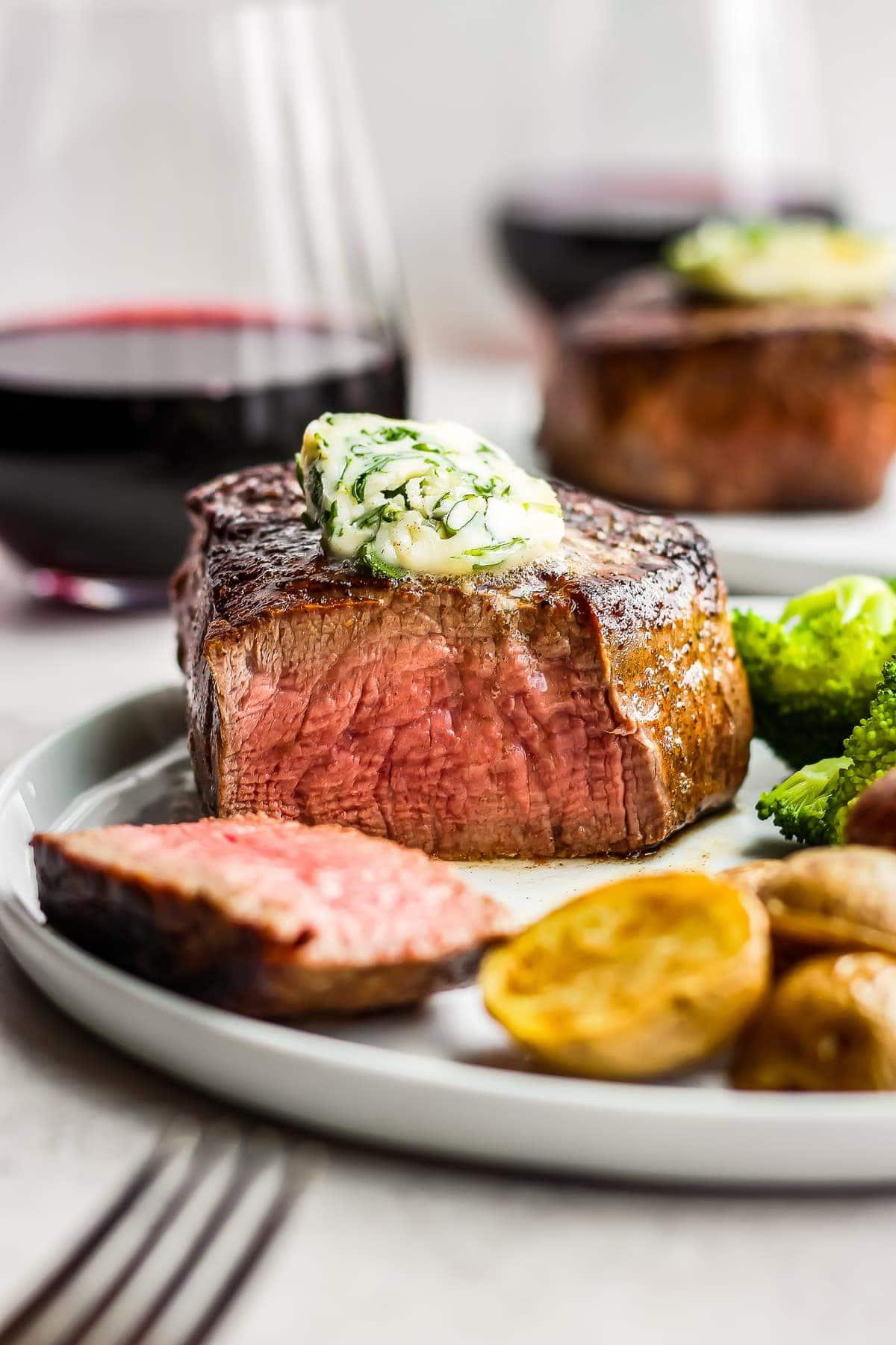 Restaurant Steak Recipe with Cilantro Steak Butter - (VIDEO!!!)