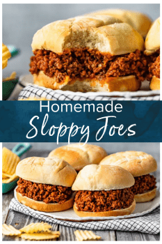 Homemade Sloppy Joes are the perfect thing to make for easy dinners this summer. Make the best sloppy joe sauce, add beef, and voila! Learn how to make sloppy joes from scratch and enjoy these messy sandwiches any night of the week. Yum! #thecookierookie #sloppyjoes #sandwich #summerrecipes