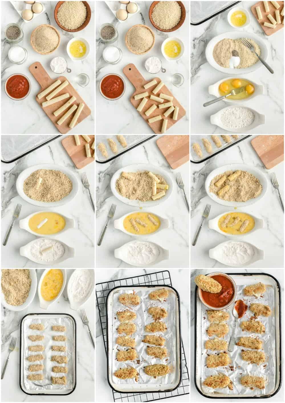 how to make homemade mozzarella sticks step by step process shots