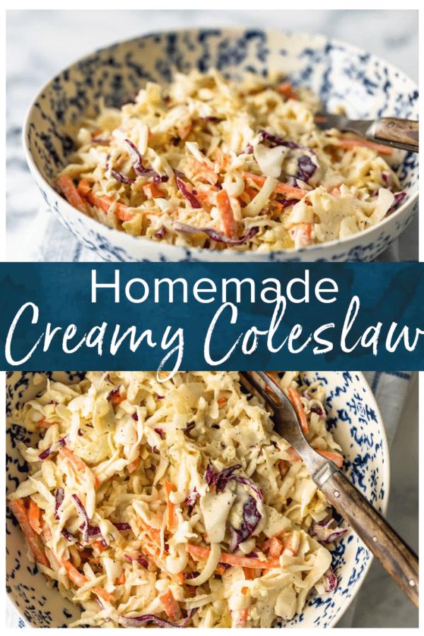 homemade creamy coleslaw pinterest photo