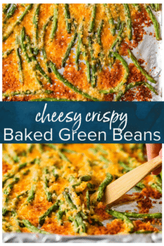 baked green beans pinterest collage