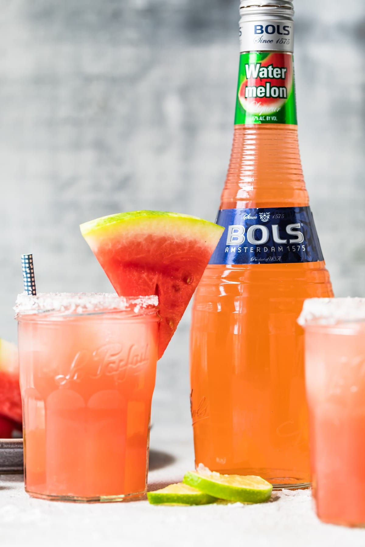 watermelon cocktail with watermelon liqueur