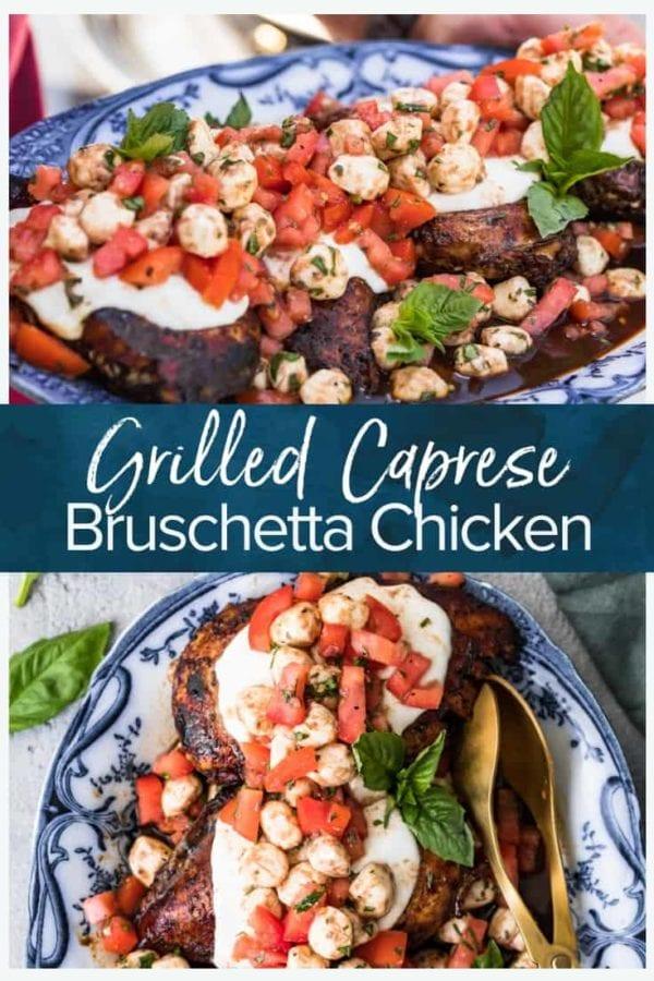 grilled caprese bruschetta chicken pinterest collage