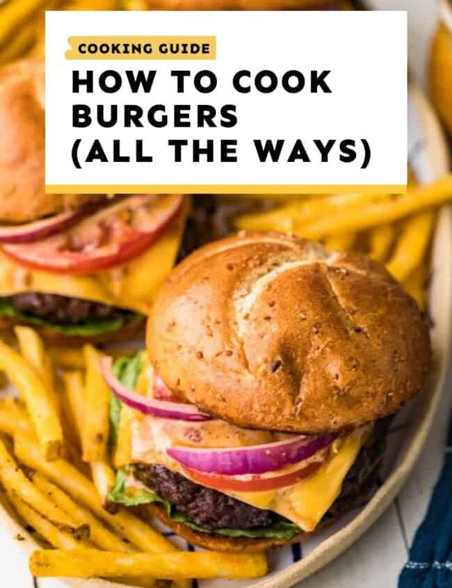 burgers cooking guide