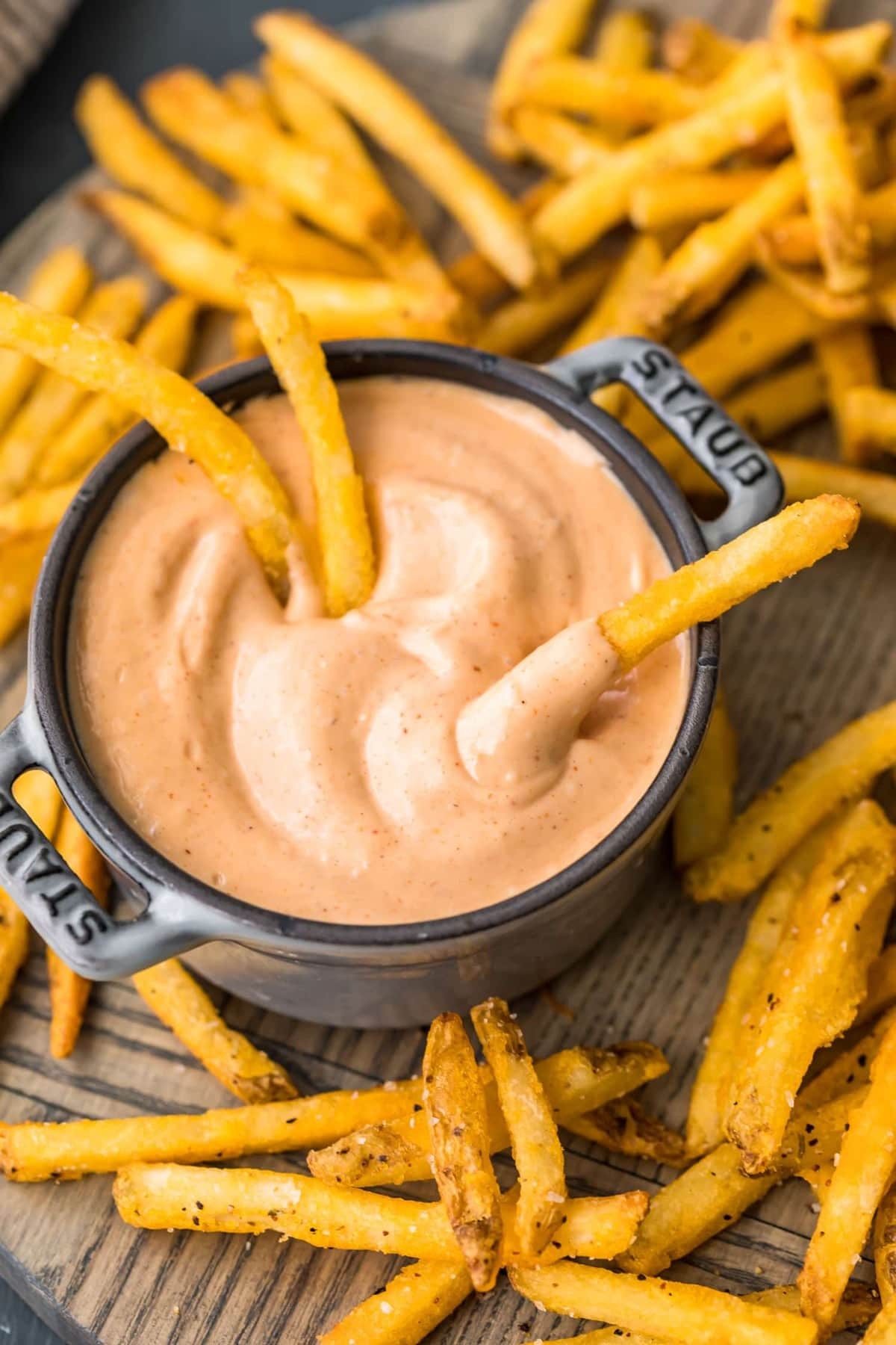 Fries in fry sauce
