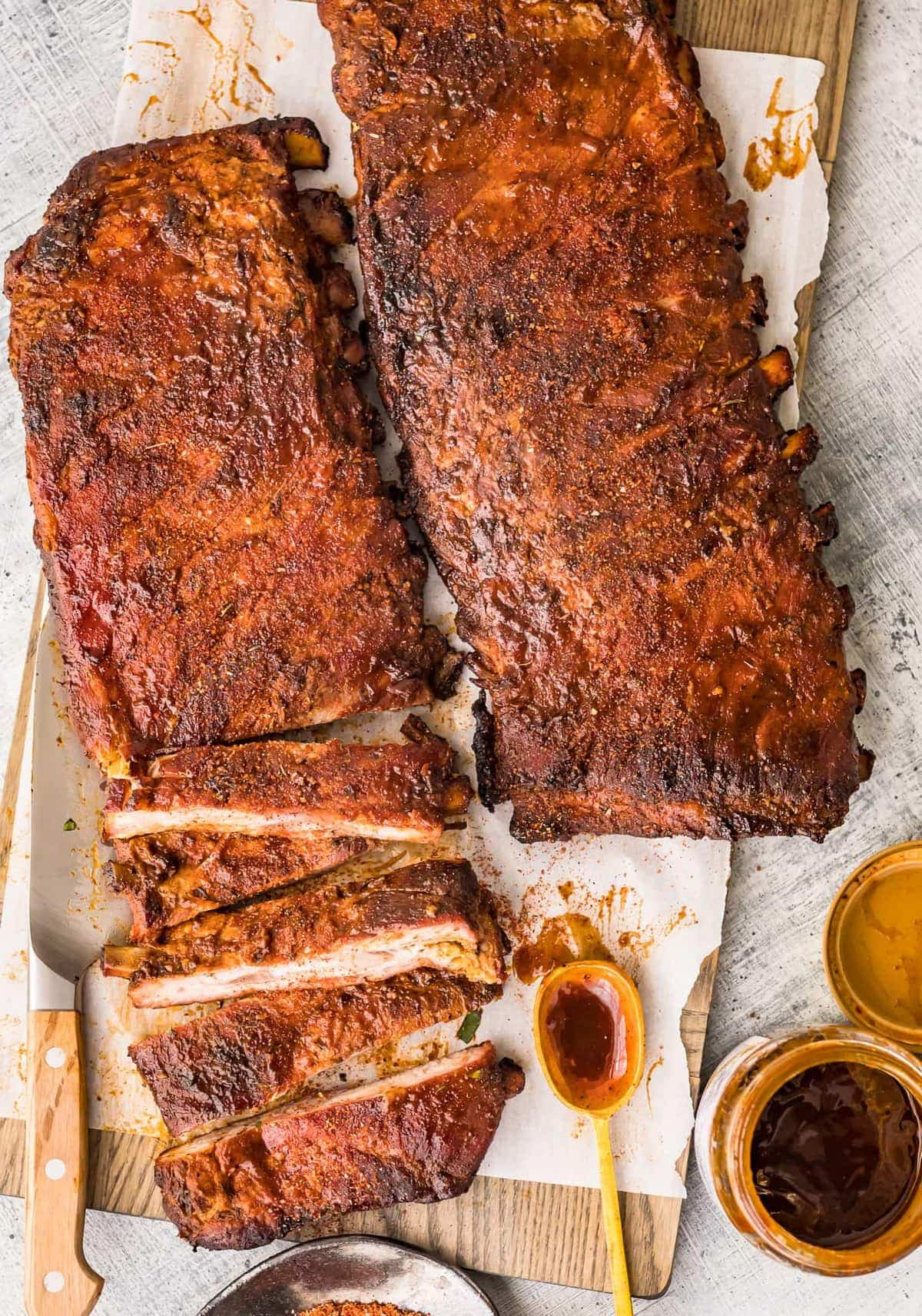 Two racks of St.Louis Style Ribs