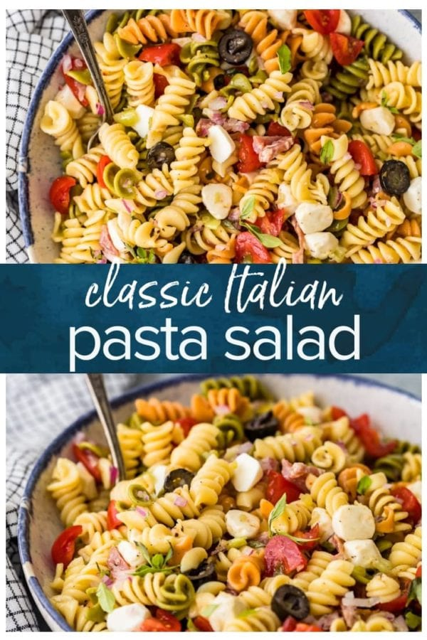 classic pasta salad pinterest image