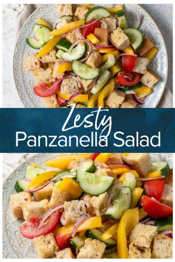panzanella salad pinterest image