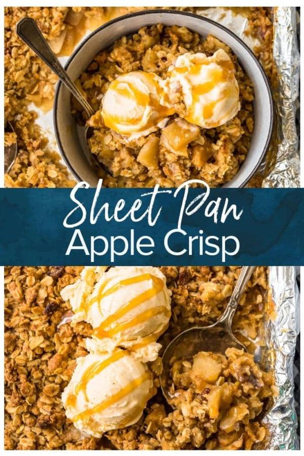 sheet pan apple crisp pinterest photo