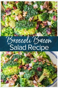 Broccoli Bacon Salad- Pinterest collage