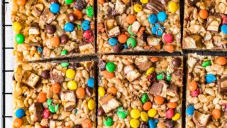 Candy Rice Crispy Treats (Loaded Rice Crispies)