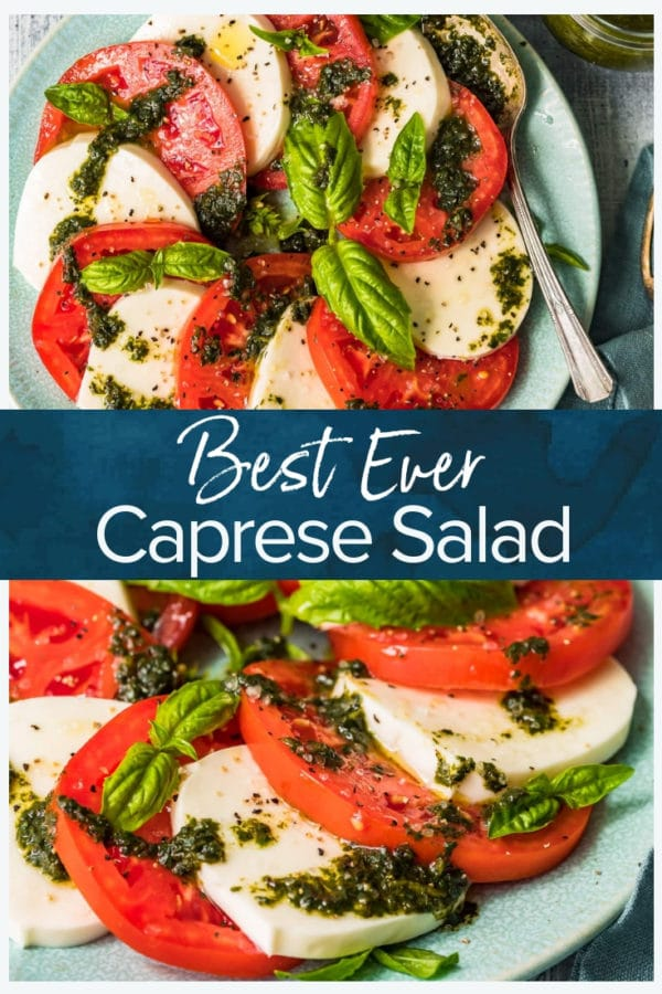 caprese salad pinterest collage