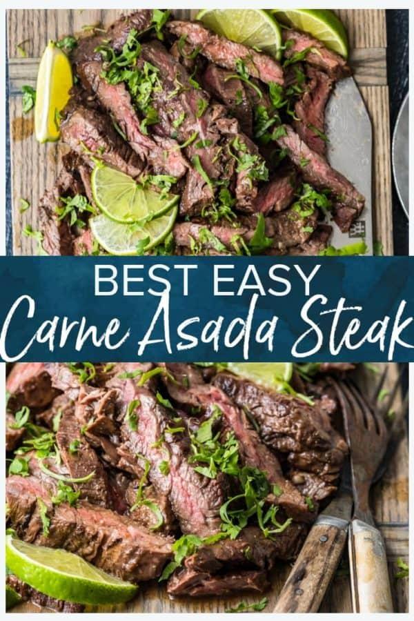 carne asada steak - pinterest collage