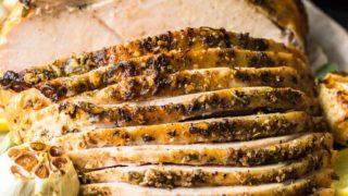 Oven Roasted Turkey Breast Recipe (Garlic Butter Turkey)