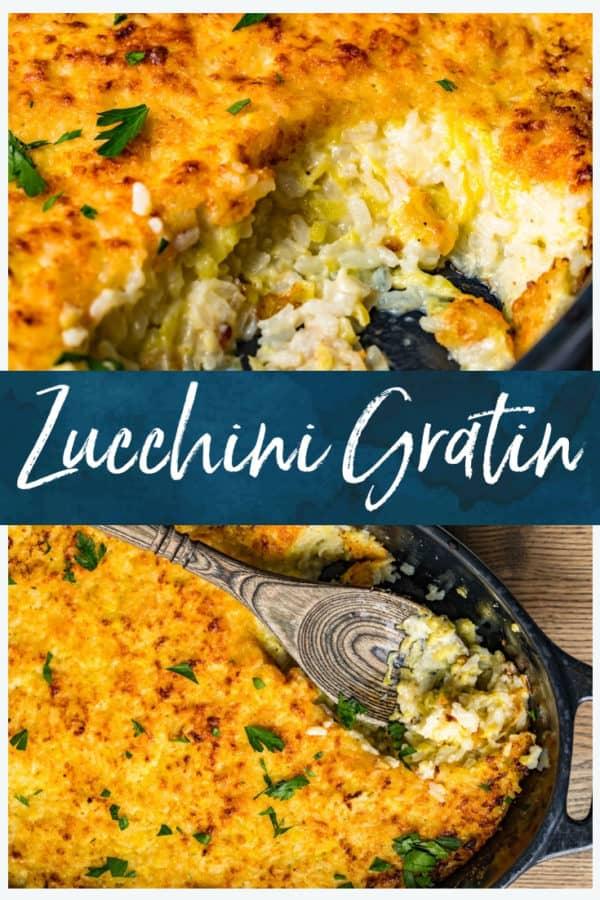 zucchini gratin pinterest collage