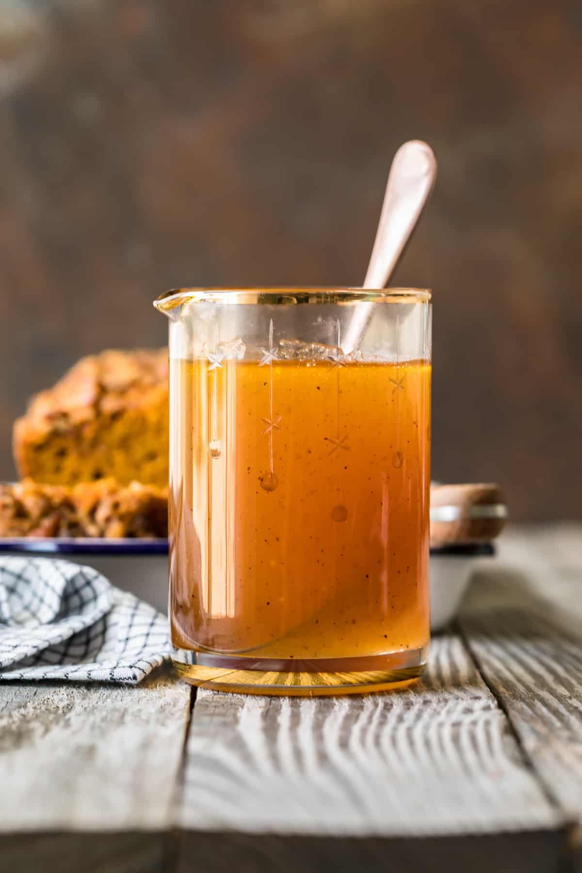 Apple Cider Sauce in a jug ready to serve