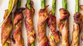 Bacon Wrapped Asparagus with Dijon