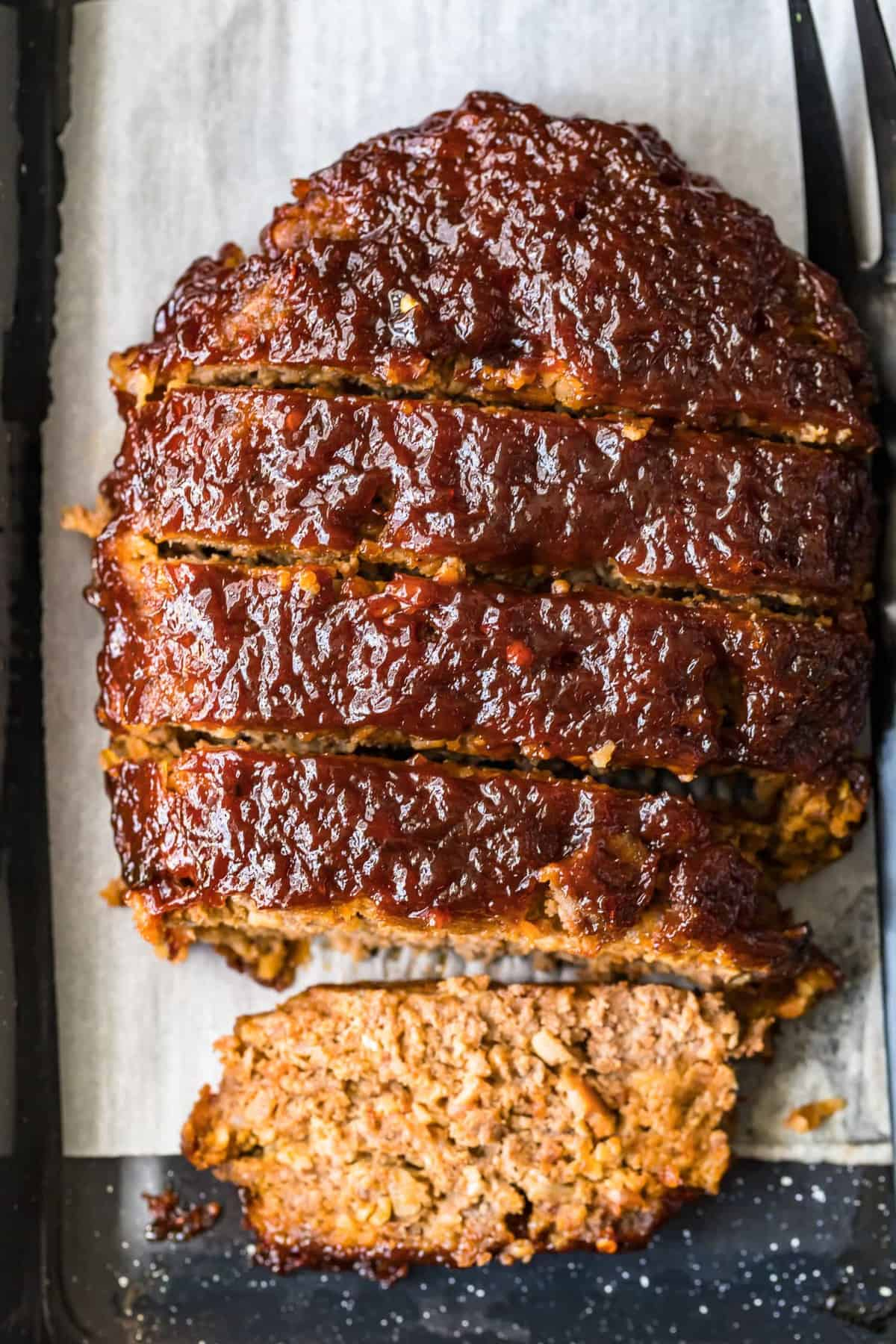Bacon Meatloaf cut into slices