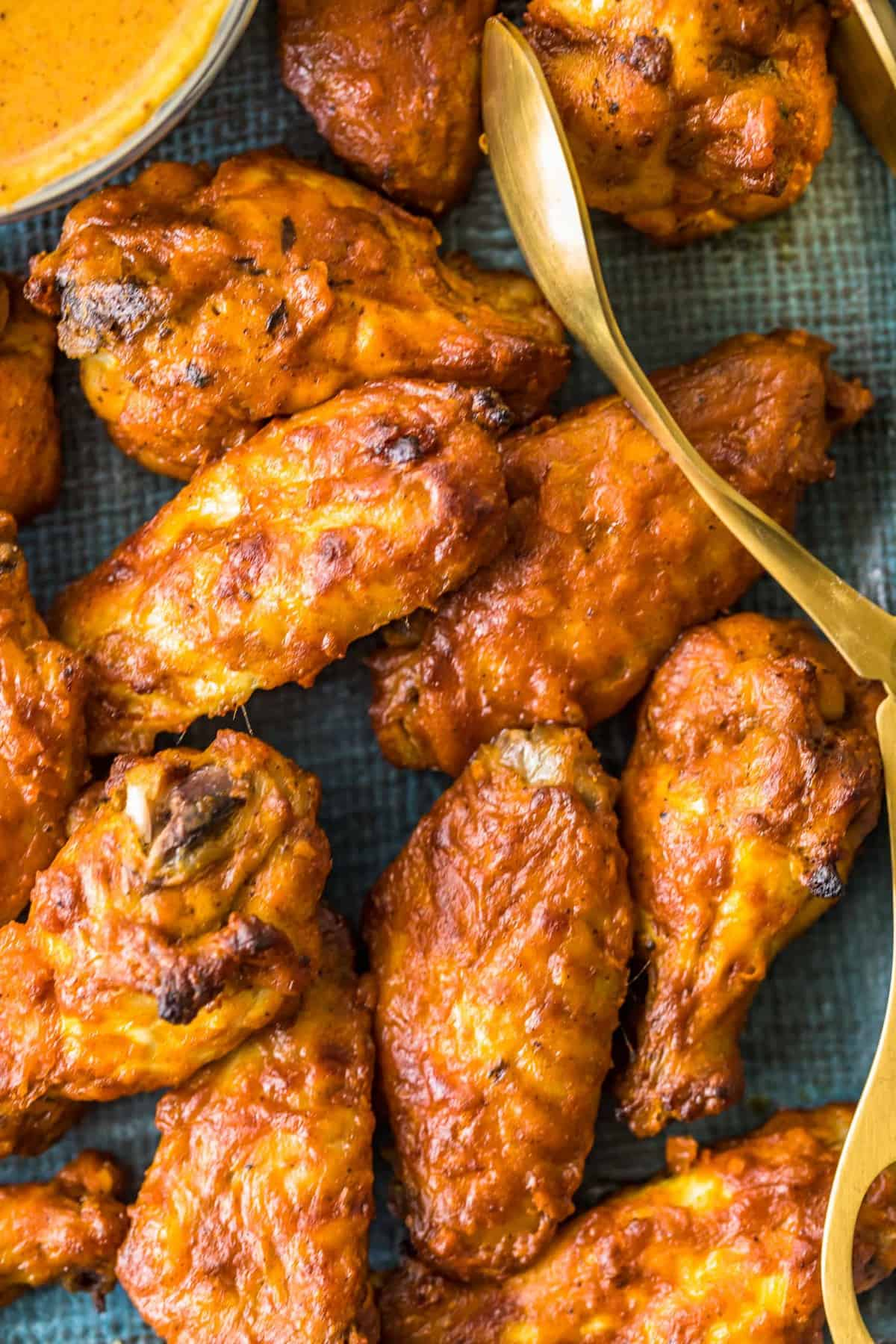Baked wings ready to eat