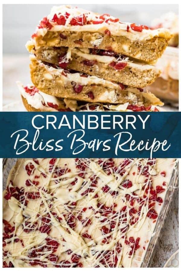 cranberry bliss bars pinterest photo