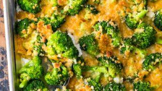 Crispy Cheesy Roasted Broccoli Recipe