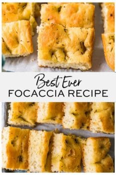 Best Ever Focaccia Recipe- Pinterest collage