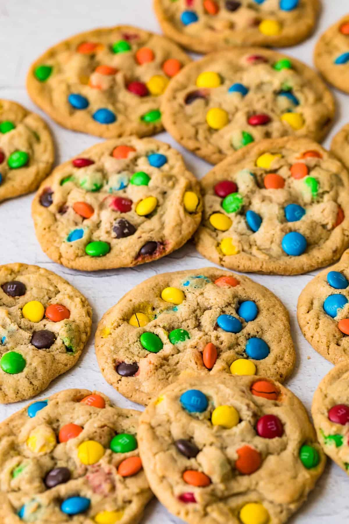 M&M Cookies just out of the oven