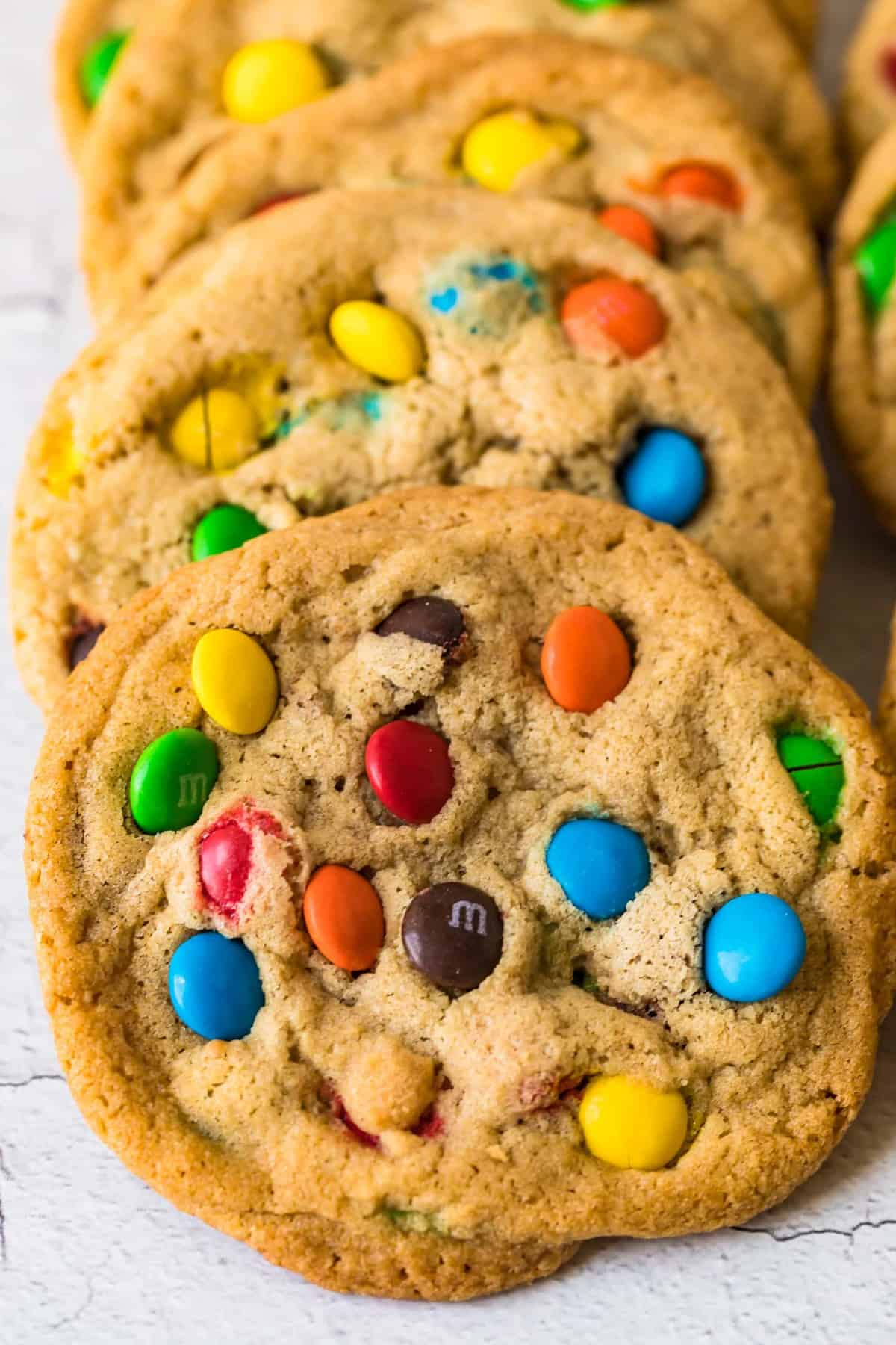 Close up of a M&M Cookie
